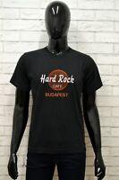 Maglia HARD ROCK Uomo Taglia Size S Maglietta Shirt Man Manica Corta Cotone Nero