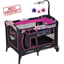 Mobile Playpen Infant Nursery Baby Portable Playard Bed Cradle Crib Bassinet New