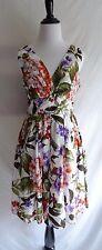 Aryeh Small Cotton Tropical Hawaiian Flower Print Summer Boho Tea Festival Dress