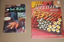 Lot of 2 Vintage Cookbooks Sunset Appetizer & Good Housekeeping Fish & Shellfish