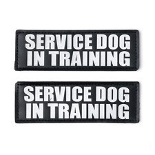SERVICE DOG IN TRAINING Patch with Hook Back and Reflective Lettering for Vests