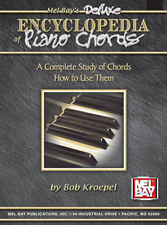 """MEL BAY """"DELUXE ENCYCLOPEDIA OF PIANO CHORDS"""" MUSIC BOOK-BRAND NEW ON SALE!!"""