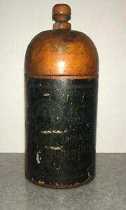 1880's Japanese Antique Wood Box Gold Paint Container Gerslendorfer Bros NY