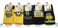 NEW! Mens 2,3,5 Pairs Minions Despicable Me Socks UK 6-11,Novelty Christmas Gift