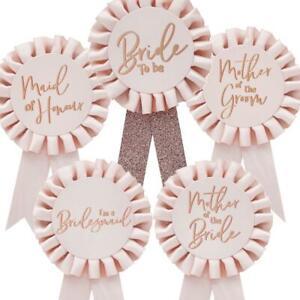 Hen Party Rosette Favour | Bachelorette Badge Bride Bridesmaid Maid Honour