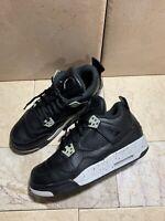 Nike Air Jordan IV 4 Retro BG 'Oreo' Grade School GS 6.5Y US Excellent EUC