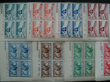 PANAMA 1942 -- Columbus not issued set in blocs of 4 + 1 inverted value ! MNH