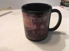 Gettysburg Battlefield Coffee Tea Mug Cup Red Black Cannon Soldier