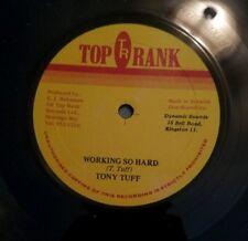 "Tony Tuff 12"" 33 single Working So Hard Jamaican import Top Rank Records vg+"