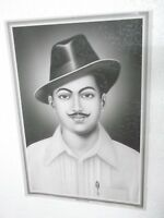 "BHAGAT SINGH  Poster  unique nice INDIA famous personality 16""11"""