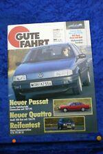Buona IN Auto 4/88 VW Passat Audi 100 Quattro Golf Cabrio Golf Gti Catalizzatore