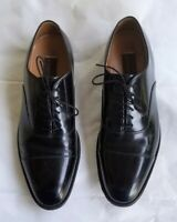 JOHNSTON & MURPHY Black Leather Dress Oxfords Shoes 8.5 D Handcrafted