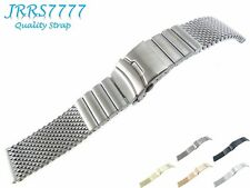 20mm Watch Bracelet Stainless Steel Brushed Titanium Shark Solid Wire Mesh Strap