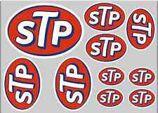 STP STICKER SET - SHEET OF 10 STICKERS - DECALS - Motorcycling
