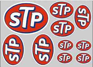 STP STICKER SET - SHEET OF 10 STICKERS - DECALS - Motorcycling