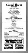 "Barbara Cook ""CANDIDE"" Robert Rounseville / Leonard Bernstein '56 Tryout Program"