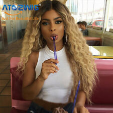 Long Wig Kinky Curly Women Ombre Synthetic Hair Blonde/Red/Black Wigs for Women