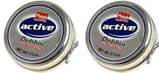 2 x Punch Active Dubbin Neutral Tin Waterproofs Leather Shoe Boot Care Wax 50ml