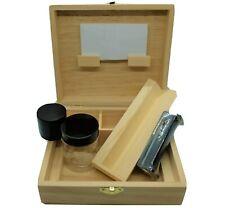 Stash Box Combo w/ Aluminum Herb Grinder, Rolling Tray & Machine and Storage Jar