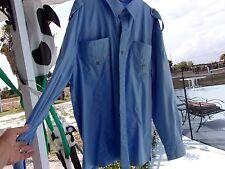 MAN OF FASHION BLUE LS 100% COTTON POCKETS BEST MAN SHIRT SIZE XL EXCELLENT COND