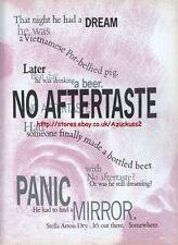 "Stella Artois Dry ""No Aftertaste"" 1993 Magazine Advert #112"