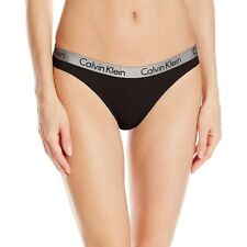 Calvin Klein Women's Underwear CK Radiant Thong, String, Black