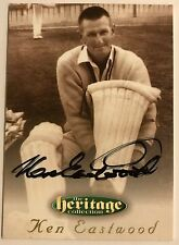 1995 FUTERA HERITAGE CRICKET COLLECTION CARD N0 39/60 SIGNED KEN EASTWOOD