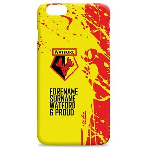 PERSONALISED Watford FC Gifts - Proud Hard Back Phone Case - Official