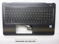 Black / Gold HP Pavilion 15-AU 15-AU078sa Series Palmrest Cover UK Keyboard