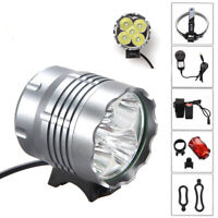 20000LM 5x XML T6 LED Front Bike Bicycle Head Lamp Light Headlight Cycling Torch