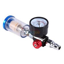 """1/4"""" Air Inlet 0-150PSI Air Pressure Regulator+ In-line Oil Water Trap Filter OB"""