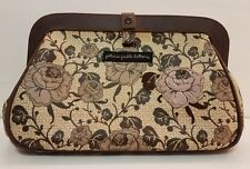 Petunia Pickle bottom Crosstown Clutch Bag Diaper Brown Tan Floral - GUC