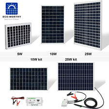 ECO 5W 10W 20W 25W Watt Solar Panel 12V Off Grid Battery Charger for Car RV Boat