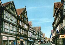 Celle  -  Altstadt - Geschäfte und Fachwerkhäuser im der Schuhstraße  -  ca.1975