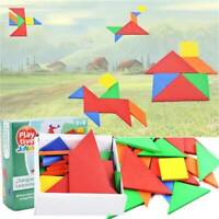 For Kids Tangram Game Travel Games Puzzle Montessori Educational Toy LL