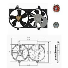 Dual Radiator & Condenser Fan Assembly Fits: 2002 - 2006 Nissan Sentra L4 1.8L
