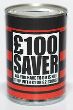 £100 Saver Savings Tin - STANDARD - Savings Jar, 100 Pound Money Tin