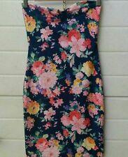 mini abito USATO estivo mare a fiori cotone elasticizzato Pull& Bear taglia M