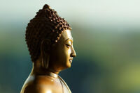Statue of Buddha Religious Symbol Icon Photo Art Print Poster 18x12 inch