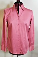 NWT Audrey Talbot Carmel Shirt - Pink - Long Sleeve Button Front - Size 6 Slim