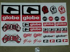 VTG 90's GLOBE SKATE SHOES SKATEBOARD PACK JOB LOT OF 29 STICKERS rodney mullen
