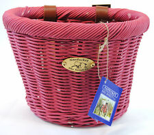 Nantucket Bicycle Handlebar Basket, Pink