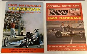 1965 US Nationals Yearbook ~ Indianapolis Drag Racing w/Entry List