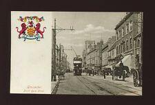 Gloucestershire Glos GLOUCESTER South Gate St Tram #4 Heraldic c1900s? PPC
