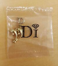 Di Diamonds International Gold Tone Dolphins Bracelet Charm, NWT
