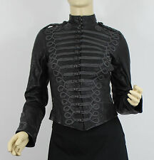 Ralph Lauren Denim and Supply Leather Jacket Womens XXS Black Goat Lined