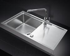 1 Becken Bad & Küche Spülen aus Edelstahl mit Abtropffläche | eBay | {Spülbecken küche edelstahl 3}