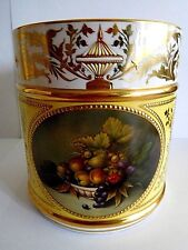 VINTAGE LYNTON PORTER MUG WITH FRUIT JEWELLING AND ENAMEL SIGNED A TELFORD