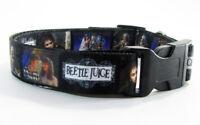 "Beetlejuice dog collar handmade adjustable buckle collar 1"" or 5/8""wide or leash"