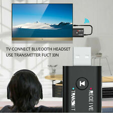 USB Bluetooth 5.0 Audio Transmitter Receiver Adapter 3.5mm for TV PC Car AUX -US
